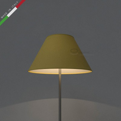 Chinese lampshade with Pale Yellow Canvas covering