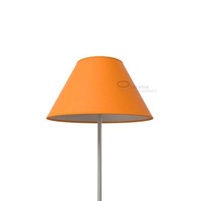 Chinese lampshade with Mandarine Orange Canvas covering
