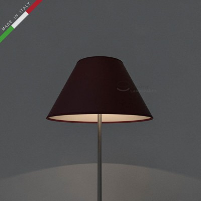 Chinese lampshade with Burgundy Canvas covering