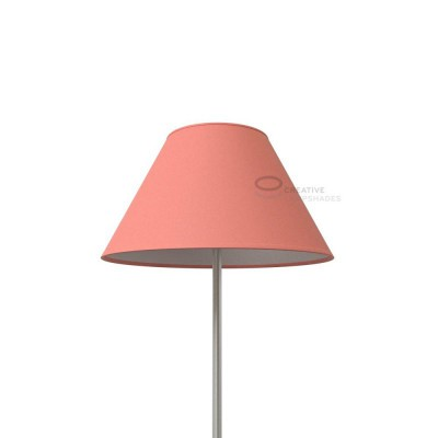 Chinese lampshade with Antique Pink Cinette covering