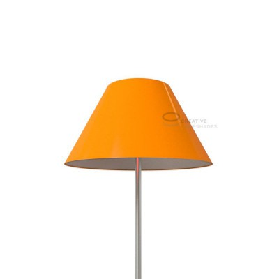 Chinese lampshade with Orange Lumiere covering