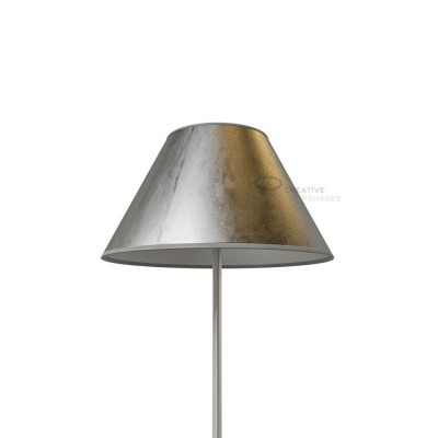Chinese lampshade with Silver leaf covering