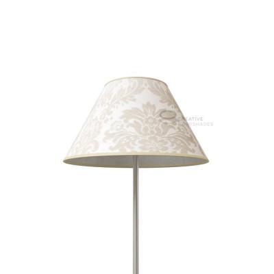 Chinese Lampenschirm Silbergrau Damaskus