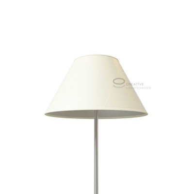 Chinese Lampenschirm Weiß Palmenblatt