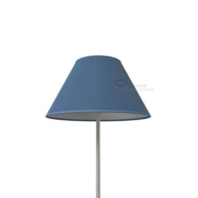 Chinese Lampenschirm Taubenblau Jute