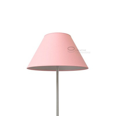 Chinese lampshade with Pink Canvas covering