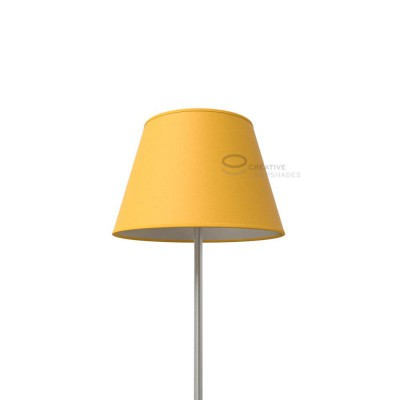 Empire Lamp Shade Golden Yellow Canvas covering