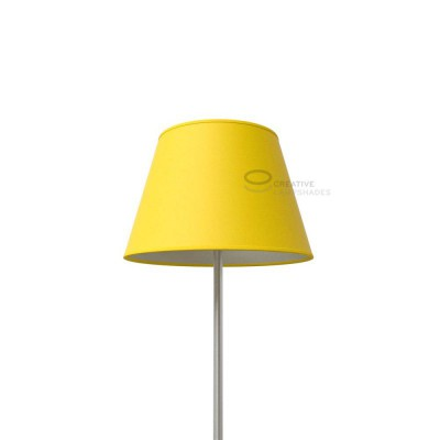 Empire lamp shade lobster cinette covering empire lamp shade bright yellow canvas covering aloadofball Gallery