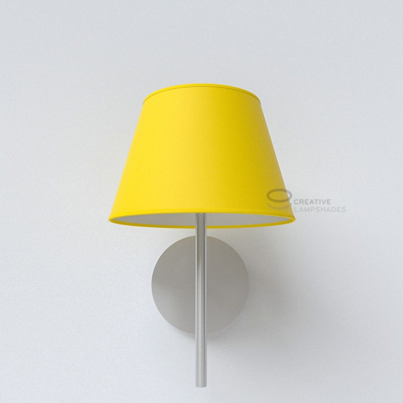 Empire lamp shade bright yellow canvas covering aloadofball Images