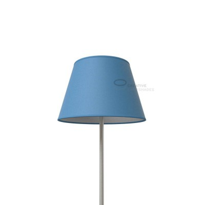 Empire Lamp Shade Heavenly Blue Canvas covering