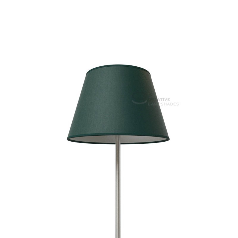 Empire Lamp Shade Dark Green Canvas