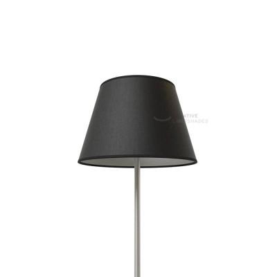 Empire Lampenschirm schwarz Leinwand