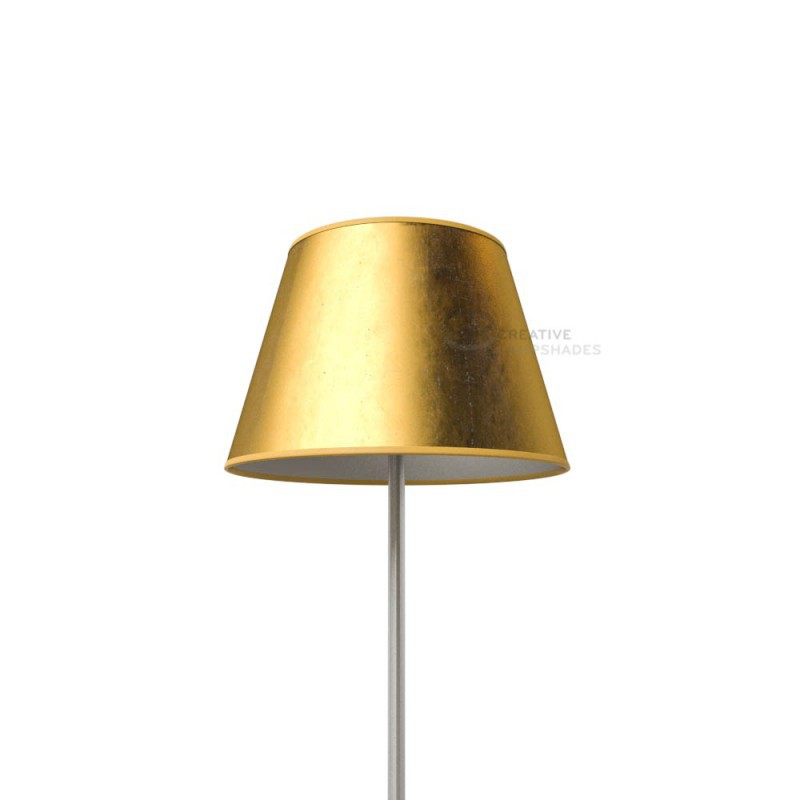 Empire lamp shade gold leaf covering aloadofball