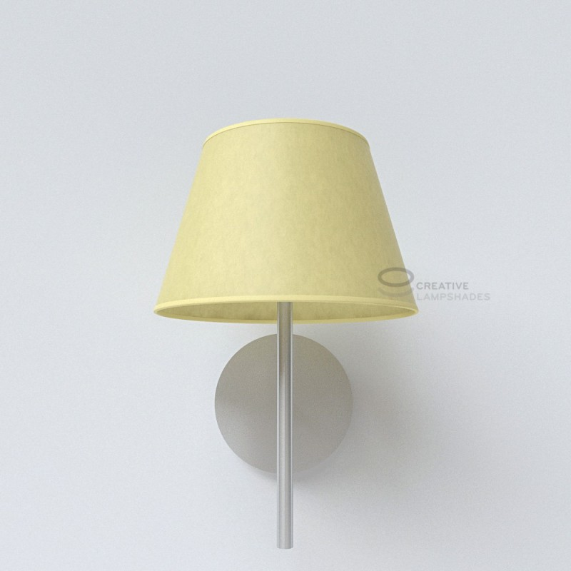 Empire lamp shade light yellow parchment covering aloadofball Gallery