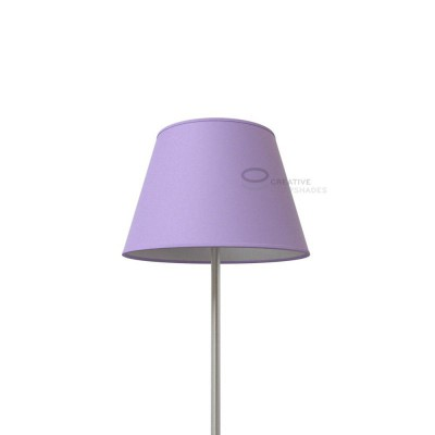 Empire Lamp Shade Lilac Canvas covering