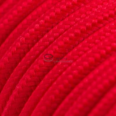Pendel per paralume a sospensione con cavo tessile Effetto Seta Rosso