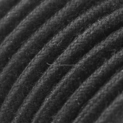 Pendel per paralume a sospensione con cavo tessile Cotone Nero
