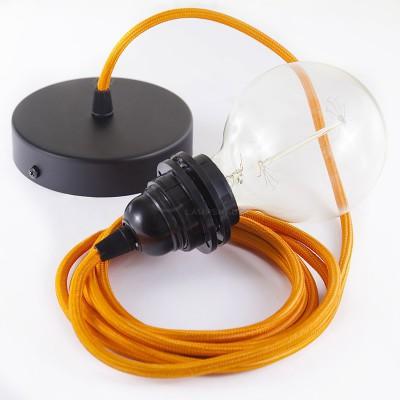 Pendel für Lampenschirm mit Orange Seideneffekt kabel
