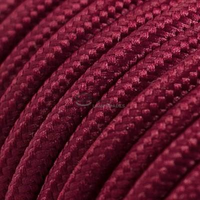 Pendel für Lampenschirm mit Bordeaux Seideneffekt kabel