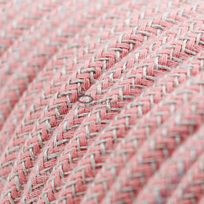 PendanPendant for suspended lampshade with ZigZag Ancient Pink textile cable