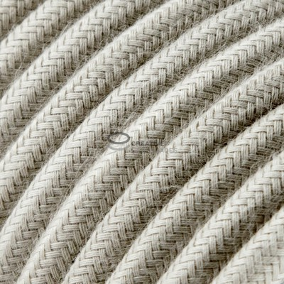 Snake for lampshade with Dove Cotton textile cable