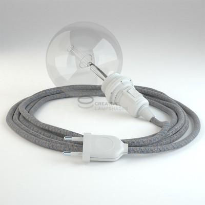 Snake für Lampenschirm mit Raute Blaue kable