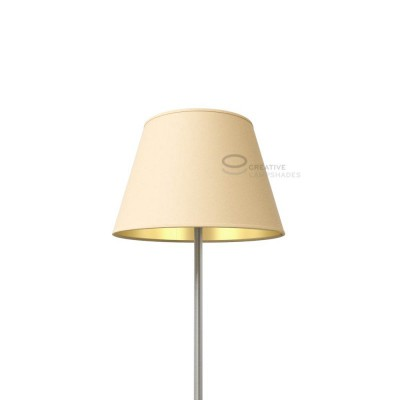 Empire Lamp Shade Hazel Canvas covering int. Gold