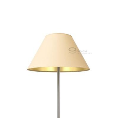 Chinese Lampenschirm Haselnuss Leinwand (Innen Gold)
