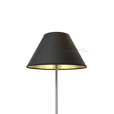 Chinese lampshade with Black Canvas With Golden Inward covering