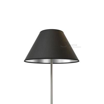 Chinese Lampenschirm Schwarz Leinwand (innen Silber)