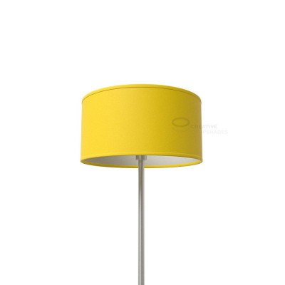 Bright Yellow Canvas Cylinder Lamp Shade