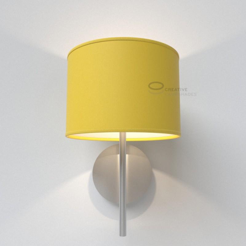 abat jour cylindre rev tement toile jaune clair. Black Bedroom Furniture Sets. Home Design Ideas