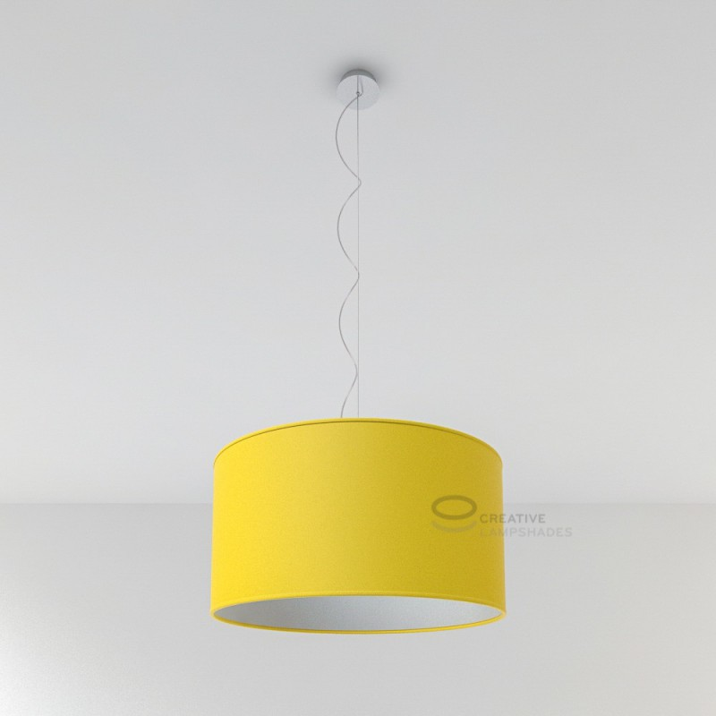 Bright yellow canvas cylinder lamp shade aloadofball Images