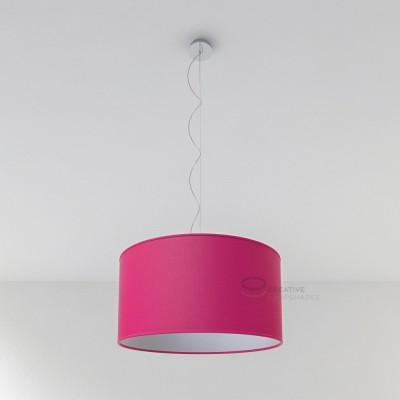 Fuchsia Canvas Cylinder Lamp Shade