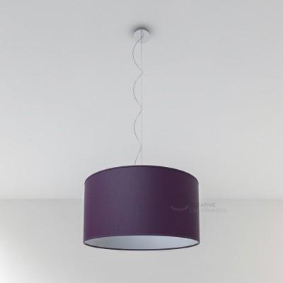 Dark Violet Canvas Cylinder Lamp Shade