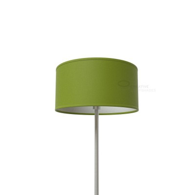 Olive Green Canvas Cylinder Lamp Shade