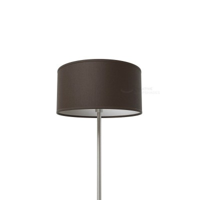 Brown Canvas Cylinder Lamp Shade