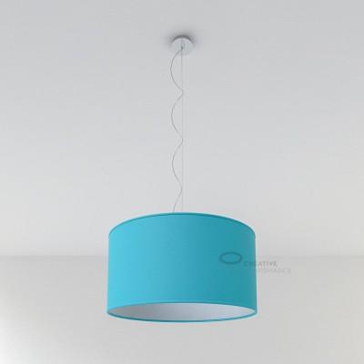 Heavenly Blue Cinette Cylinder Lamp Shade