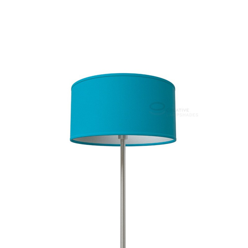 Turquoise Cinette Cylinder Lamp Shade, Aqua Blue Lamp Shades