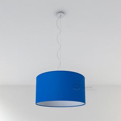 Paralume Cilindro Rivestimento Cinette Blu