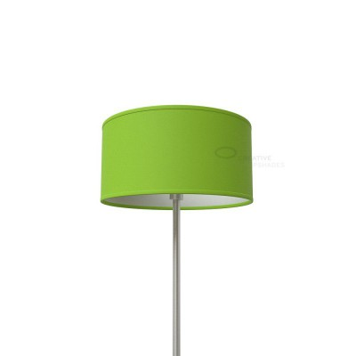 Pistachio Green Cinette Cylinder Lamp Shade