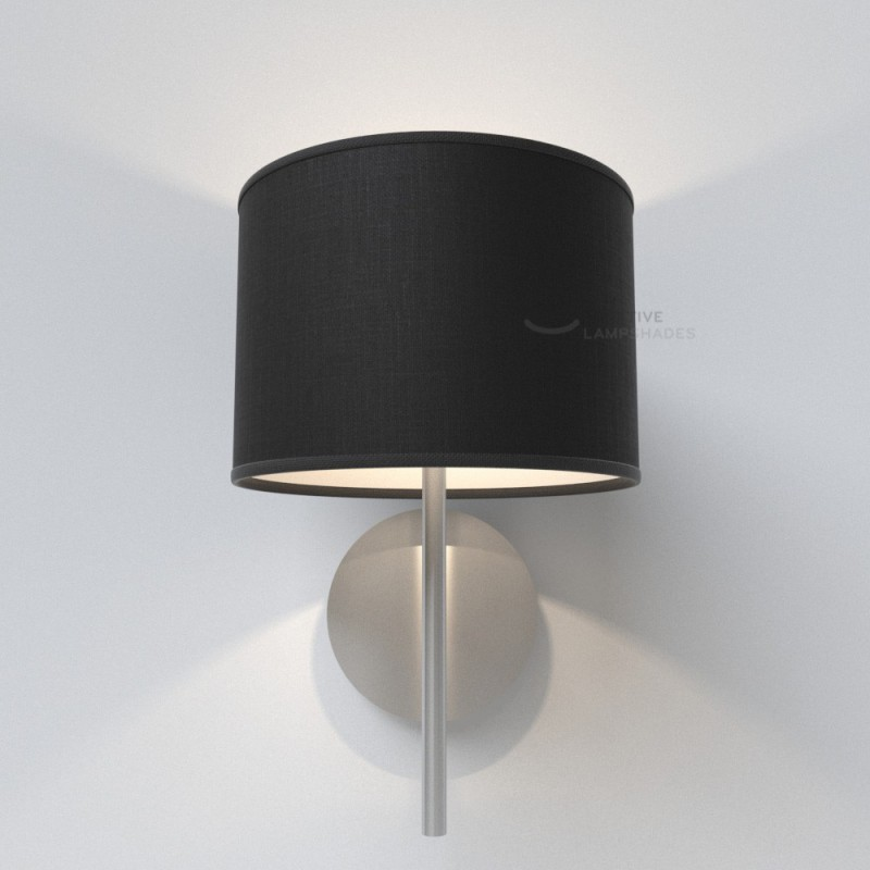 Black Camelot Cylinder Lamp Shade