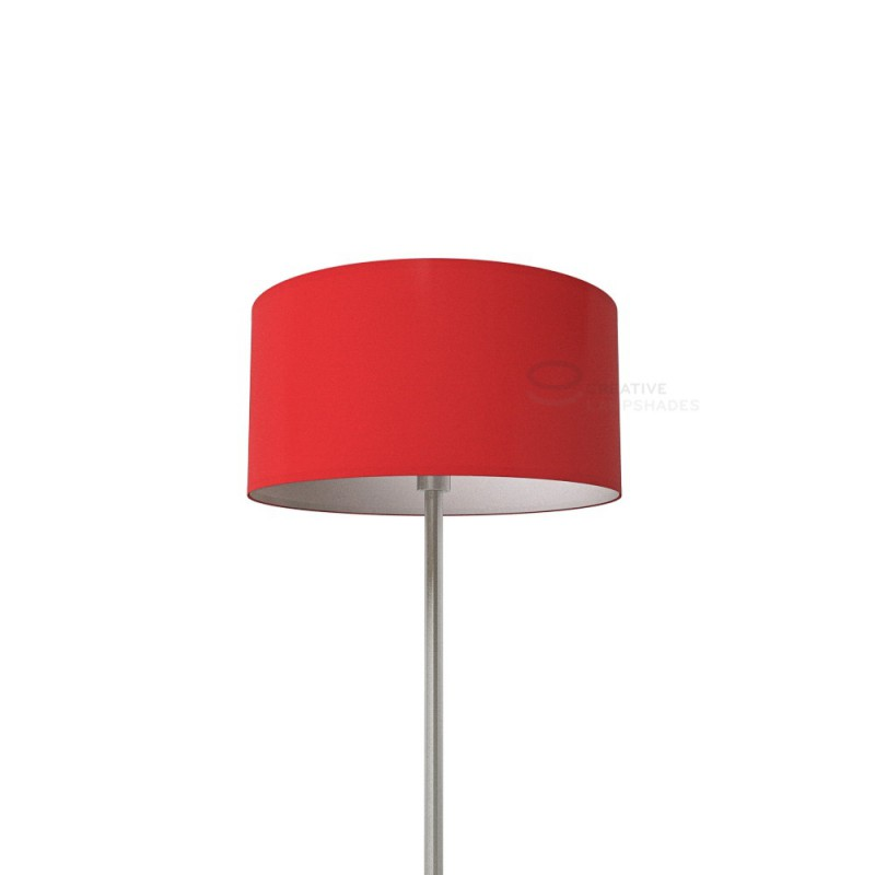 Red Lumiere Cylinder Lamp Shade