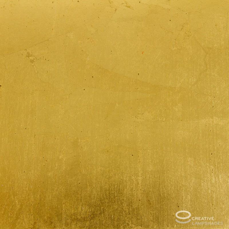 Gold Leaf Cylinder Lamp Shade