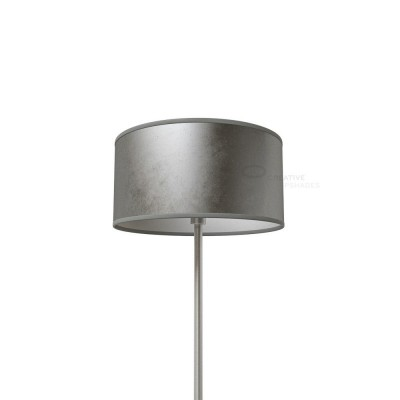 Silver Leaf Cylinder Lamp Shade