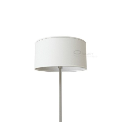 White Raw Cotton Cylinder Lamp Shade