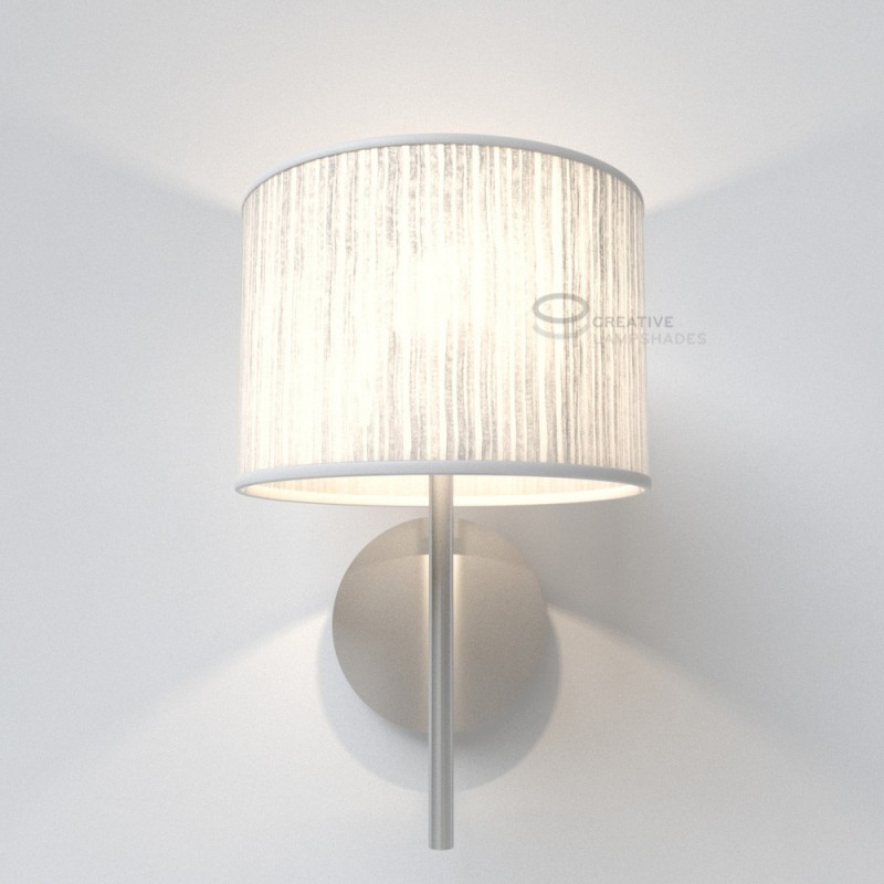 White pliss organza cylinder lamp shade aloadofball Choice Image