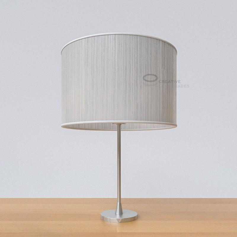 White Plissé Organza Cylinder Lamp Shade