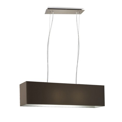 Rectangular pendant double lamp E 27 max 60 W