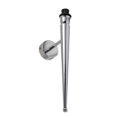 Applique conique en métal chromé E 14 max 40 w